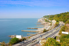 Sochi city. The resort at the Black Sea Stock Image