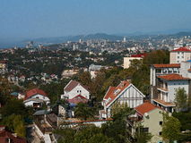 Sochi city. Summer day, a seaside town on the Black Sea Royalty Free Stock Image