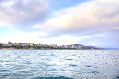 Sochi city. View from the sea stock photo