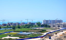 Sochi, construction of hotels in Main Olympic Village Royalty Free Stock Photos