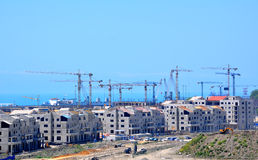 Sochi, construction of hotels in Main Olympic Village Royalty Free Stock Photo
