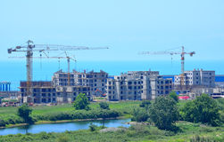 Sochi, construction of hotels in Main Olympic Village Royalty Free Stock Image