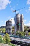 Sochi, der Aufbau der hohen Gebäude Stockbild