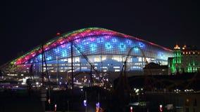 Sochi Fisht arena night panoramic 16:9 horizontal Stock Photos
