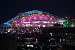 Sochi Fisht arena night panoramic horizontal Stock Image