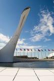 Sochi Flame Cauldron Statue Royalty Free Stock Photography