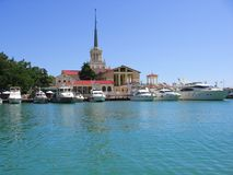 Sochi harbour. Harbour of Sochi, city of 2014 Olympic Games Royalty Free Stock Images