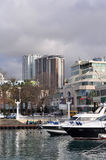 Sochi, Hochhausaufbau im Küstengebiet Stockfotos