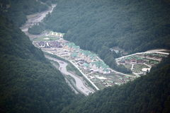 Sochi. Krasnaya Polyana. Hotels. Royalty Free Stock Photos