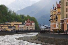 Sochi Krasnaya Polyana i vår Royaltyfri Bild