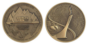 Sochi medalj 2014 Royaltyfri Bild