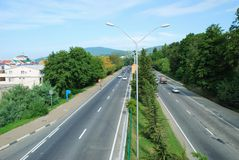 Sochi. Motorway Royalty Free Stock Photos