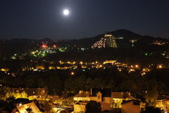 Sochi night when the moon. Russia Stock Photography