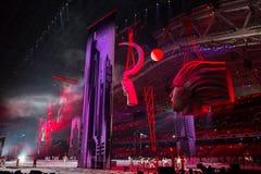Sochi 2014 olimpiad ceremonia otwarcia Zdjęcia Royalty Free