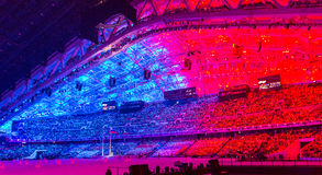 Sochi 2014 olimpiad ceremonia otwarcia obraz stock
