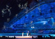Sochi 2014 olimpiad ceremonia otwarcia Zdjęcie Royalty Free