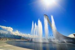 Sochi Olimpijska fontanna Fotografia Royalty Free