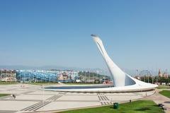 Sochi Olimpijski Po?arniczy puchar w Olimpijskim parku obrazy royalty free