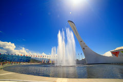 Sochi Olympic fountain Royalty Free Stock Image