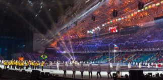 Sochi 2014 Olympic Games opening ceremony Royalty Free Stock Image