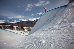 Sochi 2014 -Olympic Park, Roza Khutor, track Stock Photo