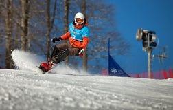 Sochi 2014 -Olympic Park, Roza Khutor, track Royalty Free Stock Images