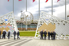 Sochi. Olympic Square. Wall of Champions game Royalty Free Stock Photo
