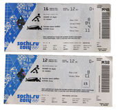 Sochi Olympics tickets Stock Photo