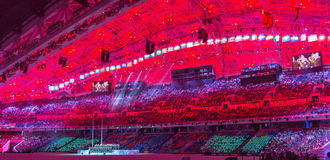 Sochi 2014 OSöppningscermoni Fotografering för Bildbyråer