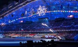 Sochi 2014 OSöppningscermoni Royaltyfri Foto