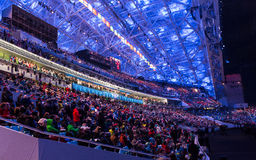 Sochi 2014 OSöppningscermoni Arkivbild