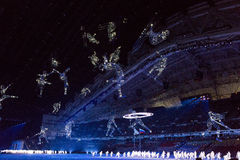 Sochi 2014 OSöppningscermoni Royaltyfri Bild