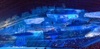 Sochi 2014 OSöppningscermoni Arkivbilder
