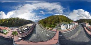 Sochi Panorama 360 grad luft arkivbild