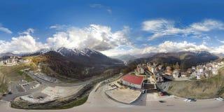 Sochi Panorama 360 grad luft royaltyfria bilder