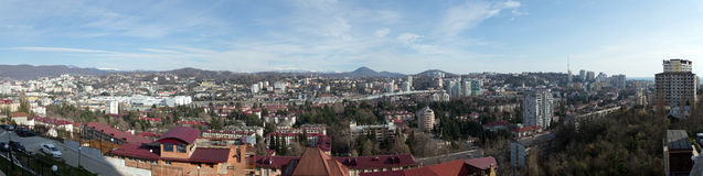 Sochi Panorama. Russia Royalty Free Stock Image