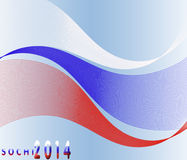 Sochi 2014. The premise of the Winter Olympic Games.Waves background of the Russian flag Royalty Free Stock Photos
