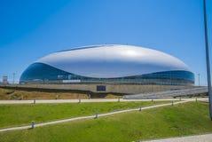 Sochi, Rússia - 6 de julho: Abóbada do gelo de Bolshoy no parque olímpico Foto de Stock Royalty Free