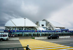 Sochi, Rússia - 31 de maio de 2017: Parque olímpico e estádio de Fisht para os Jogos Olímpicos 2014 do inverno Estádio de futebol Fotos de Stock