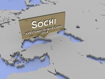 Sochi, Rússia, jogos do inverno de 2014 - de XXII Olimpic Foto de Stock Royalty Free