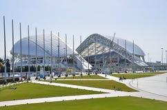 Sochi, Rússia, março, 01, 2016, palácio Fisht do gelo no parque olímpico de Sochi Imagem de Stock Royalty Free