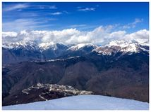 Sochi, rosa peak stock photo