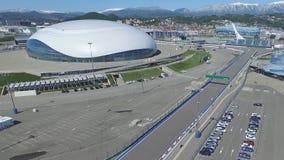 SOCHI, ROSJA budowa Bolshoy lodu kopuła w Sochi, Rosja dla zim olimpiad 2014 Bolshoy lodu pałac Fotografia Stock