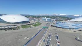 SOCHI, ROSJA budowa Bolshoy lodu kopuła w Sochi, Rosja dla zim olimpiad 2014 Bolshoy lodu pałac Fotografia Royalty Free