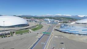 SOCHI, ROSJA budowa Bolshoy lodu kopuła w Sochi, Rosja dla zim olimpiad 2014 Bolshoy lodu pałac Zdjęcia Royalty Free