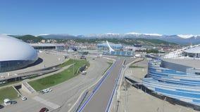 SOCHI, ROSJA budowa Bolshoy lodu kopuła w Sochi, Rosja dla zim olimpiad 2014 Bolshoy lodu pałac Zdjęcia Stock