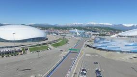 SOCHI, ROSJA budowa Bolshoy lodu kopuła w Sochi, Rosja dla zim olimpiad 2014 Bolshoy lodu pałac Obrazy Royalty Free