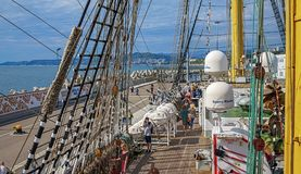 SOCHI ROSJA, KWIECIEŃ, - 29, 2015: Wycieczka na łódkowatym Krusenstern Obraz Royalty Free