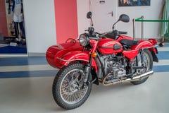 SOCHI ROSJA, KWIECIEŃ, - 23, 2017, motocykl Ural Obrazy Royalty Free