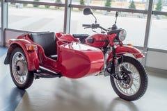 SOCHI ROSJA, KWIECIEŃ, - 23, 2017, motocykl Ural Fotografia Stock